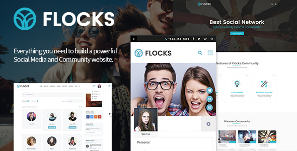 Flocks – Business, Social Networking, and Community WordPress Theme (en)