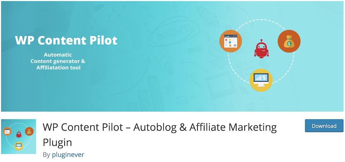 wp content pilot wordpress autoblogging plugin de wordpress pilote