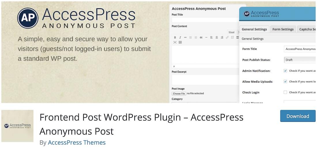 accesspress post wordpress anonyme post wordpress autoblogging plugin