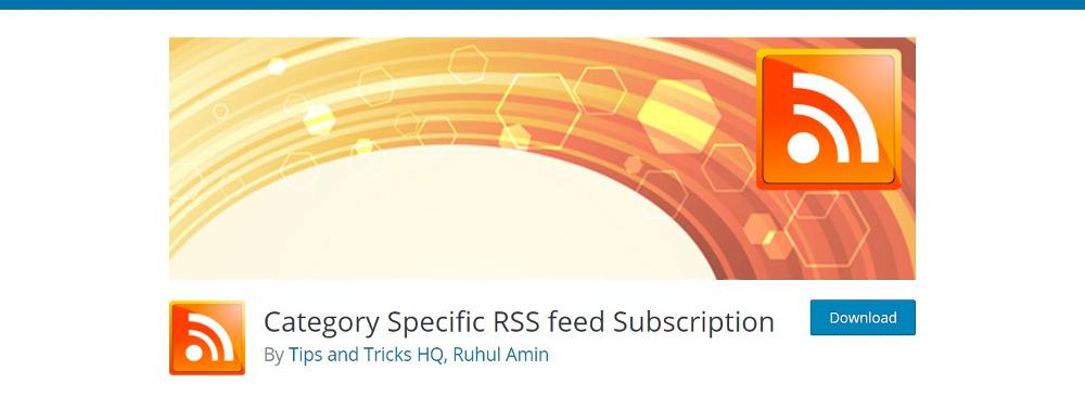 Abonnement aux flux RSS spécifiques à une catégorie