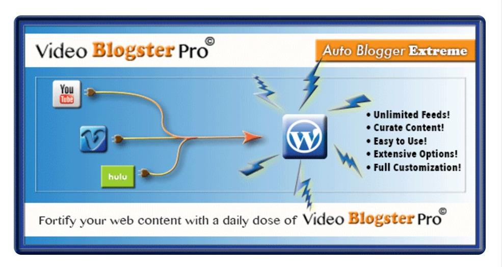 Vidéo Blogster Pro