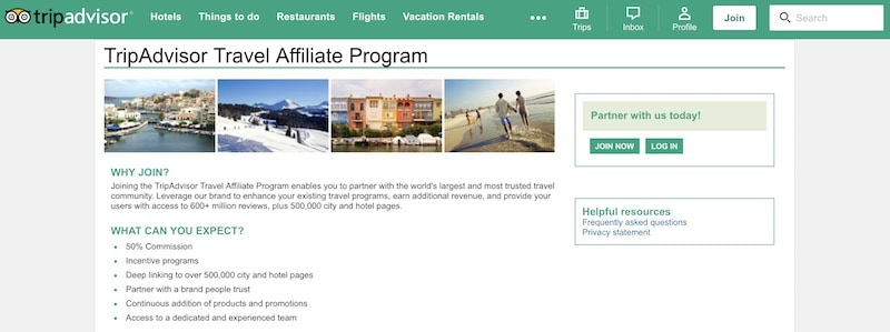 Voyage Programmes d'affiliation Image
