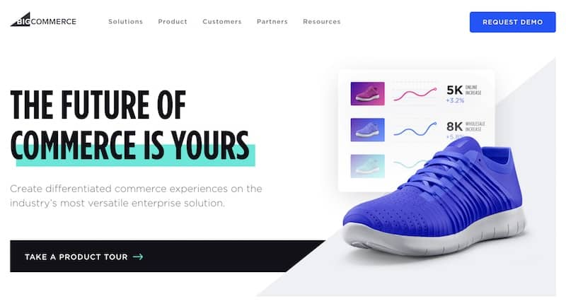 Page d'accueil BigCommerce