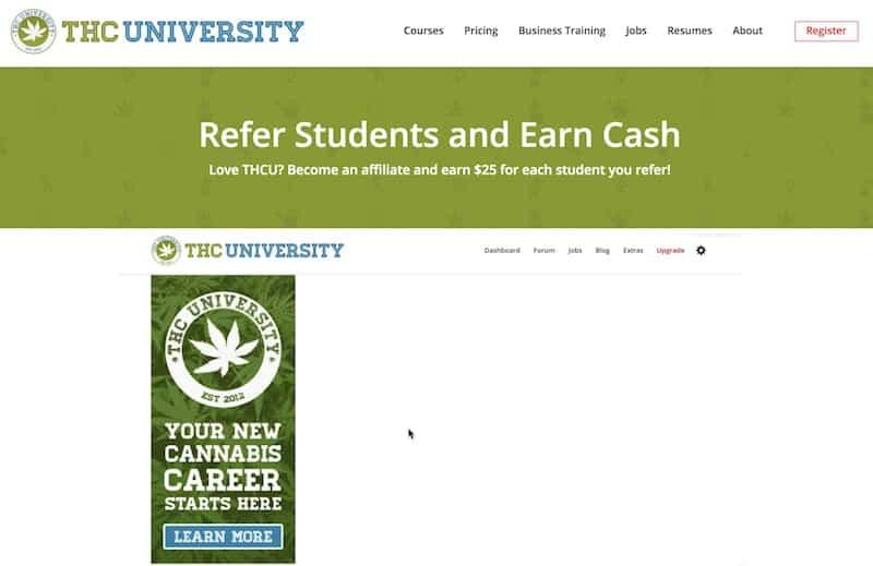 Programmes d'affiliation à la marijuana