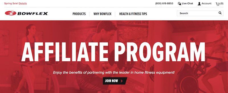Programmes d'affiliation Fitness