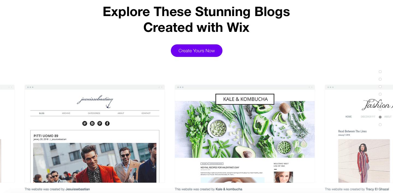 Wix Blogging