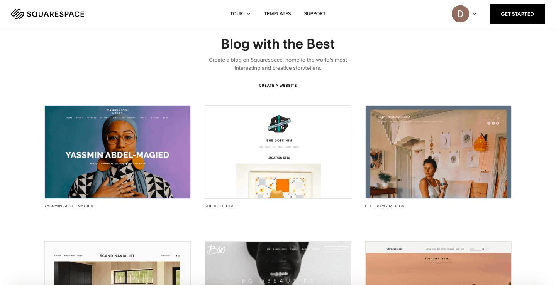 Blogging de l'espace carré