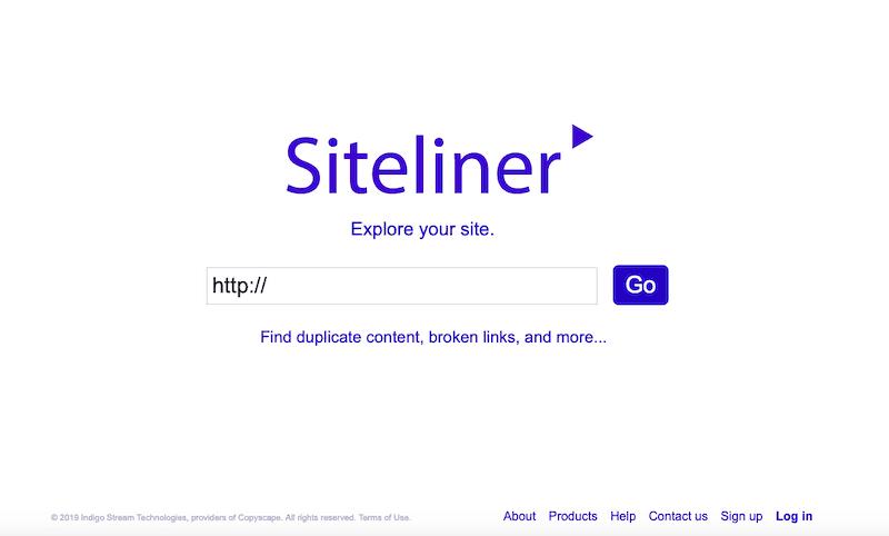 Meilleur référencement Outils Siteliner