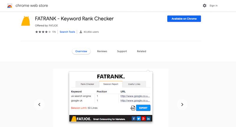 Meilleurs outils de référencement Fatrank