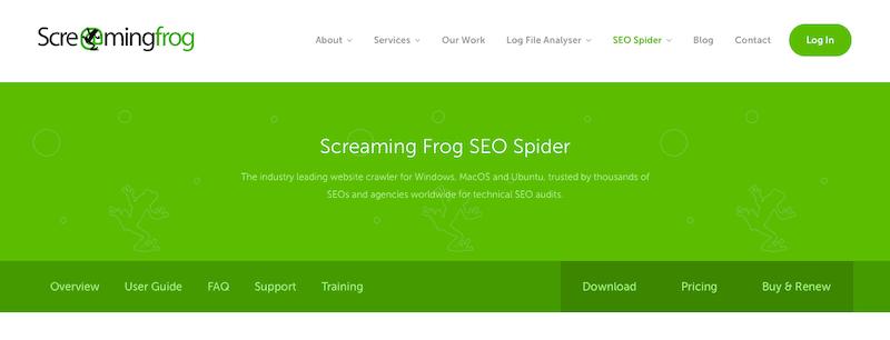 Meilleurs outils de référencement Screaming Frog outils