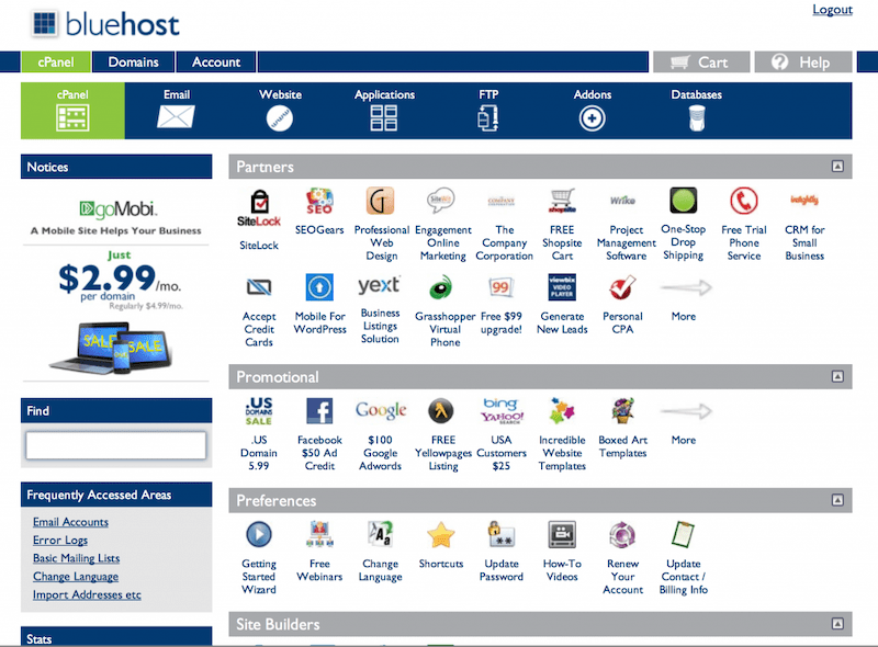 Bluehost : Web Hosting Review cPanel cPanel