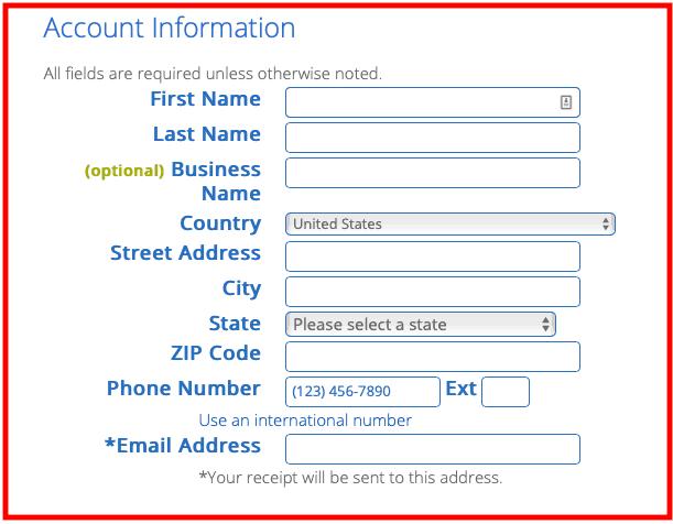Processus d'inscription Bluehost : Ajouter des informations personnelles