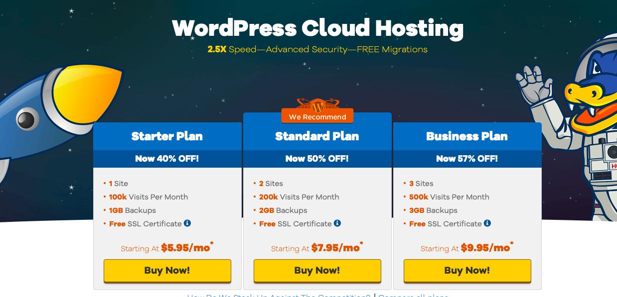 HostGator WordPress Hébergement WordPress