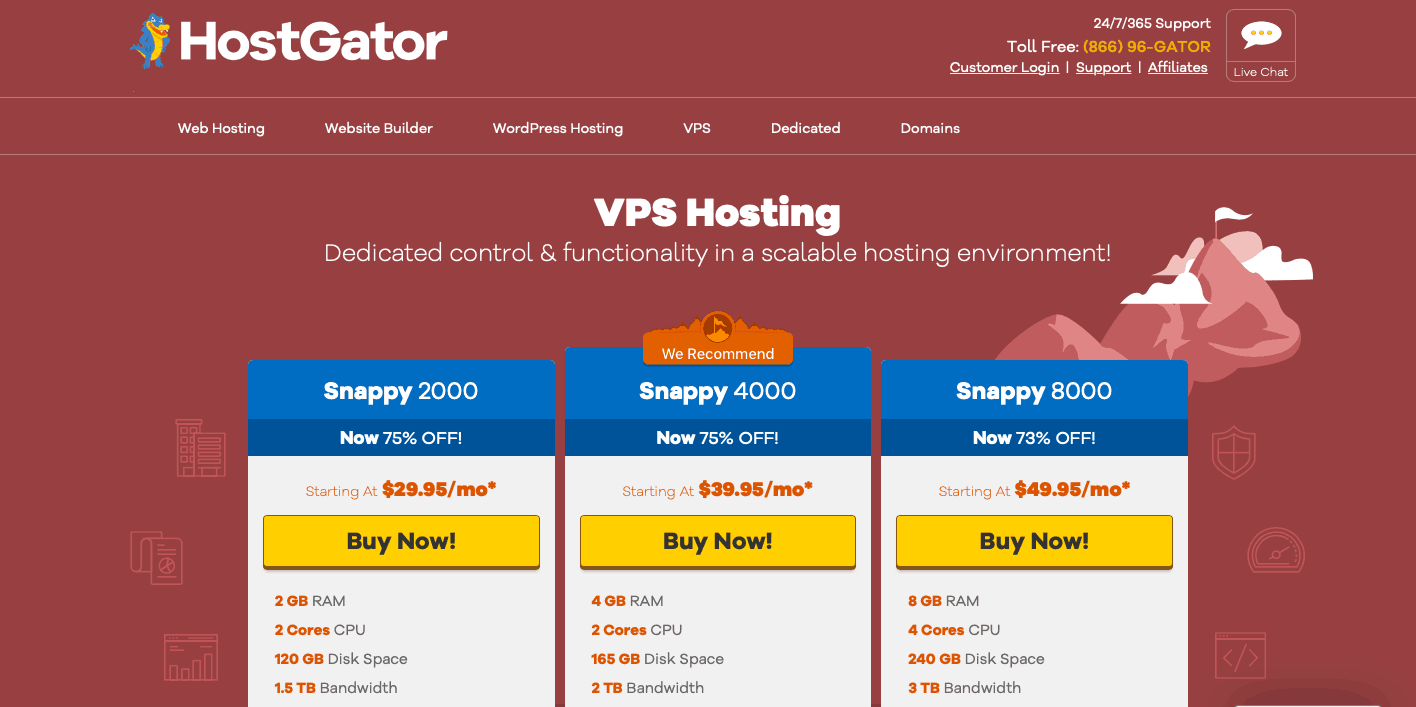 HostGator Hébergement VPS