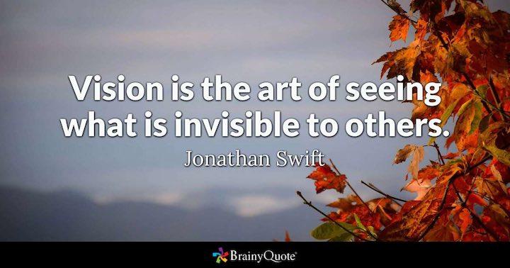 Citation de Jonathan Swift sur la vision