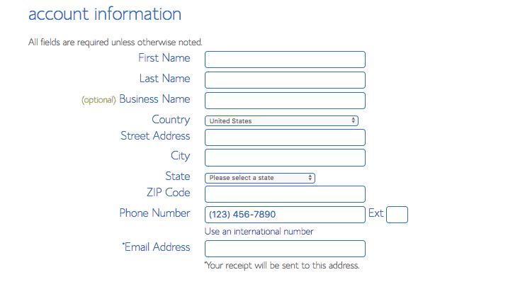 Bluehost configurer les informations de compte