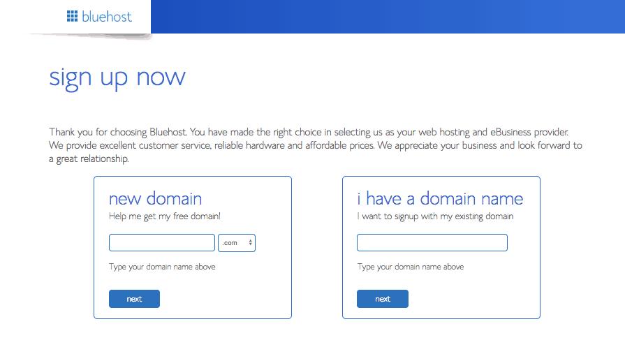 Configuration du nom de domaine Bluehost