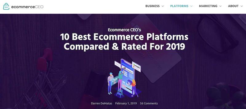 EcommerceCEO Examen des plates-formes de commerce électronique