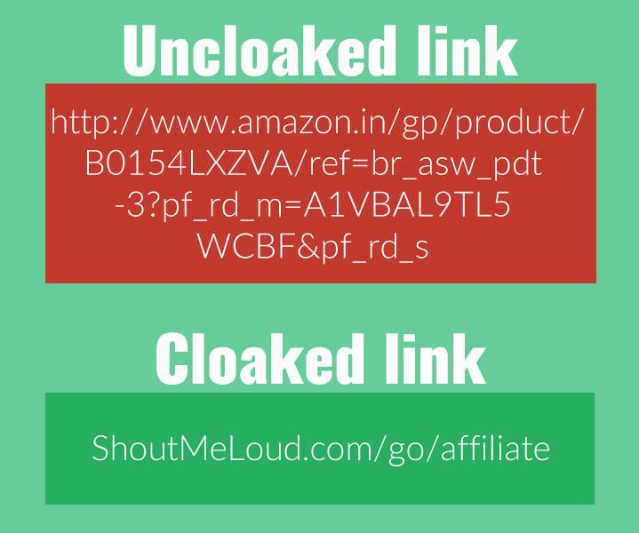 Affiliate Link Cloaking