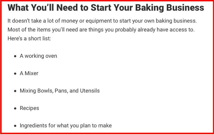 Meilleures idées d'affaires Boulangerie
