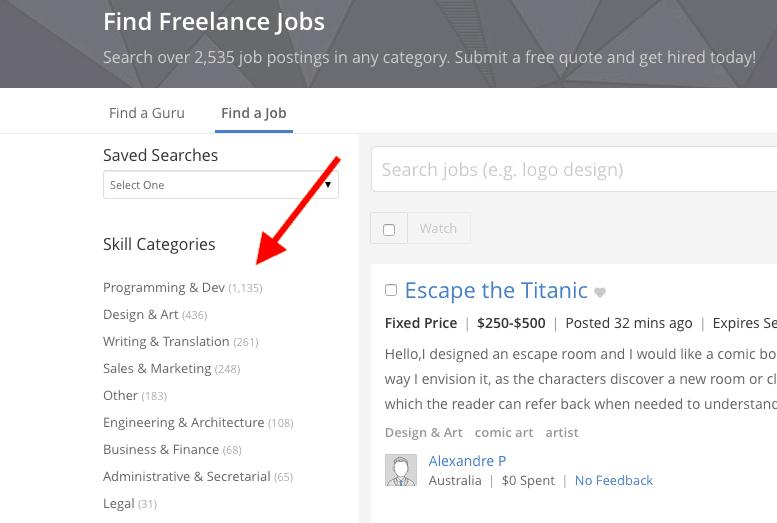 Freelance Codage Emplois