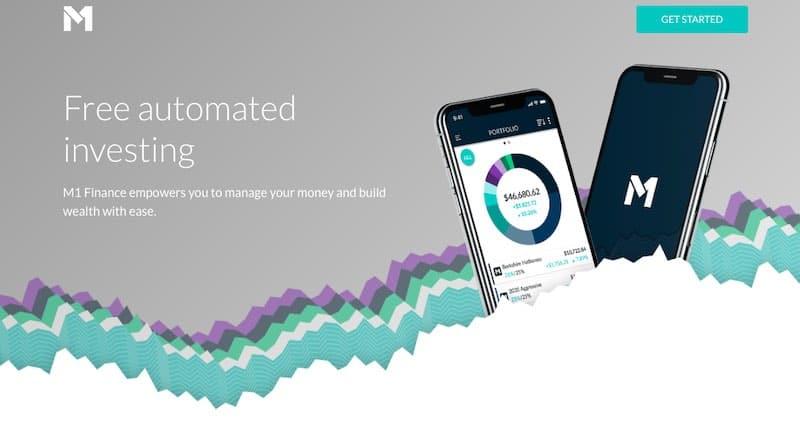Page d'accueil de M1 Finance
