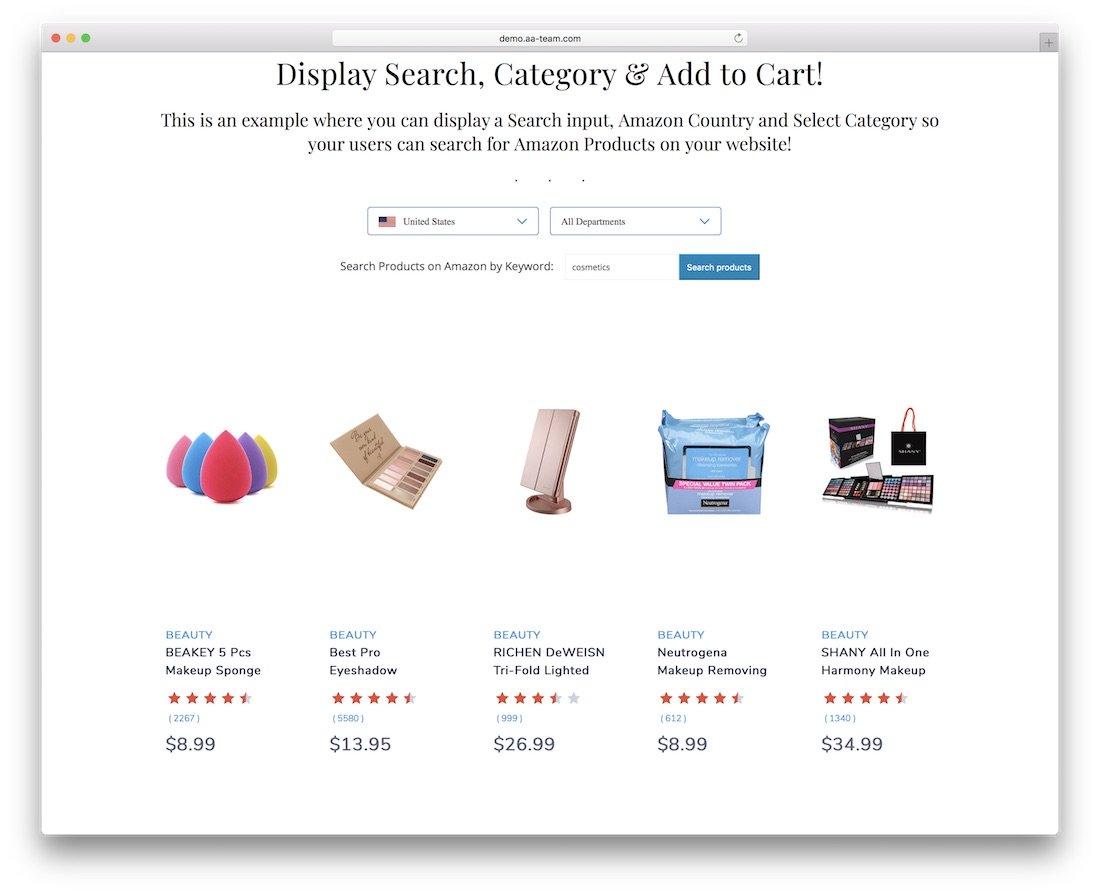 gutensearch amazon produits affiliés recherche et intégration