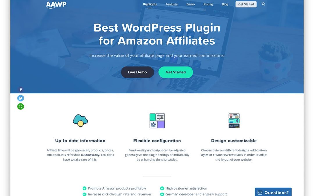 Les meilleurs plugins WordPress d'affiliation Amazon pour 2020